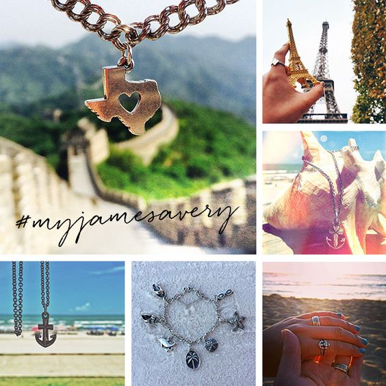 Going somewhere? Whether it's a vacation or staycation, share where you wear your James Avery.  Get creative – be sure to include a favorite local landmark or beautiful scenery!  Snap a photo and tag #myjamesavery on Instagram.