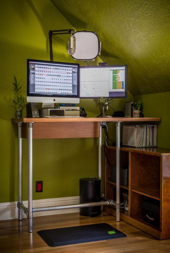 Desks Make Your And Stand Up Desk On Pinterest