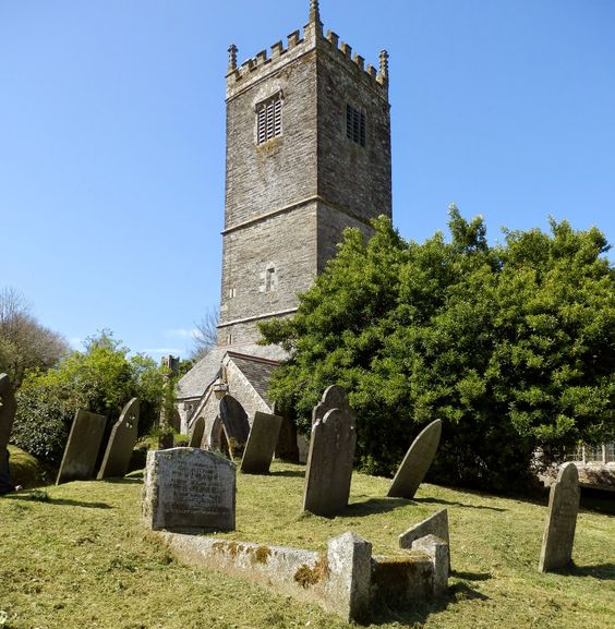 ST WILLOW | Lanteglos-by Fowey, Cornwall: 'The saint carried his decapitated head to where this church was to be built.' ✫ღ⊰n