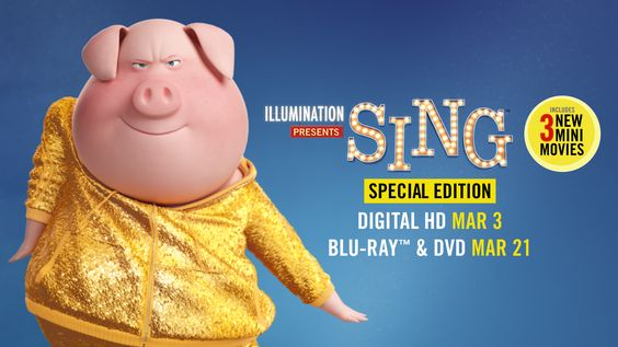 SING Special Edition DVD: Are you on the #SingSquad #SingMovie