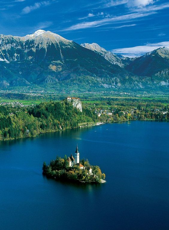 This is the stunning 'Bled Lake', Slovenia. Bled Island is home to the 'Church of the Assumption', while you can als...