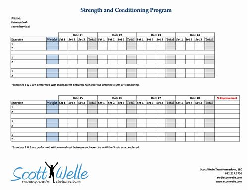 Workout Plan Template Excel Beautiful Progressive Overload In Strength Training Scott Welle Workout Plan Template Workout Plan How To Plan Workout template google sheets