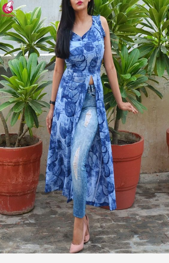 Nice Color Of The Hairstyle Long Kurti Designs Kurti Designs Party Wear Indian Kurti Designs