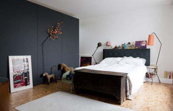 placard chic en noir sol en osb bedroom black osb floor chambre pinterest tages. Black Bedroom Furniture Sets. Home Design Ideas
