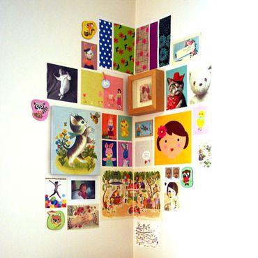 Chambre enfant, on the wall.  #Kid room: Art Corner, Wall Idea, Corner Decoration, Kids Room, Wall Decorations, Nursery, Idea Kidsroom, Corner Wall
