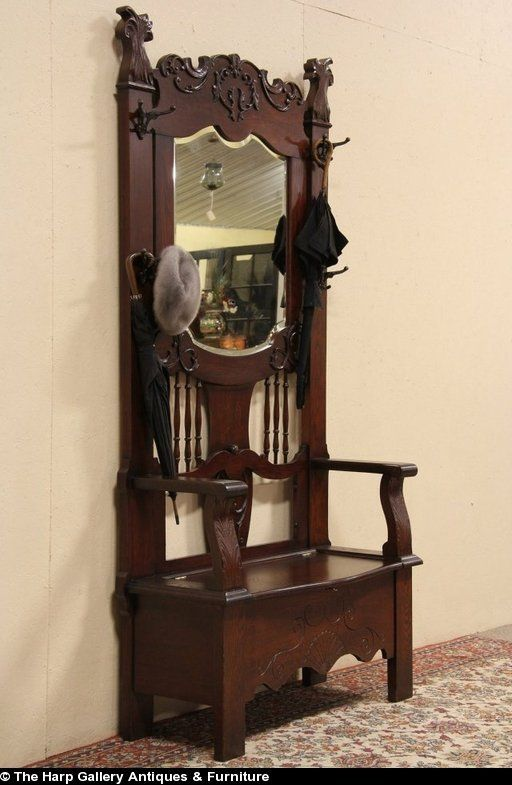 Hall Bench Beveled Mirror And Benches On Pinterest
