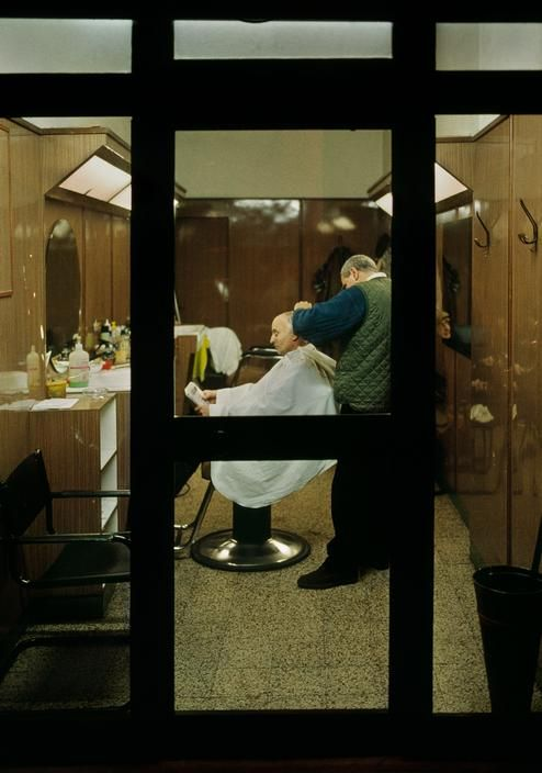 Roman Barber Shop   Photo Harry Gruyaert, 2000   Harry Gruyaert   Pinterest    Photography, Magnum Photos And Photojournalism