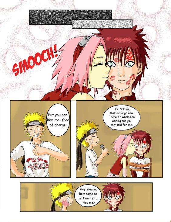 Naruto: Kiss Your Kage Page 3 by Ryoko-and-Yami   GaaSaku ...  Kankuro And Sakura Kiss