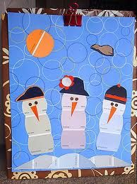 Paint Chip Snowmen, so easy and cute!
