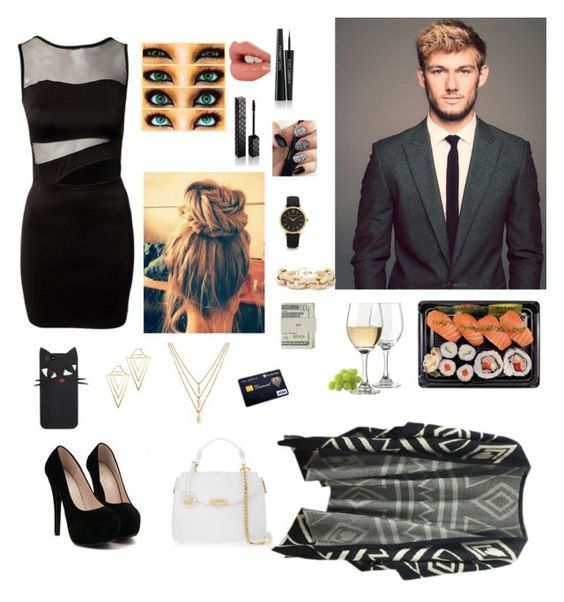 """""""A date with Alex Pettyfer"""" by missstyles-oned on Polyvore featuring Charlotte Tilbury, Dolce&Gabbana, Gucci, Versace, Libbey, Forever 21, Rachel Rachel Roy, Larsson & Jennings, Slate & Willow and Jack Spade"""