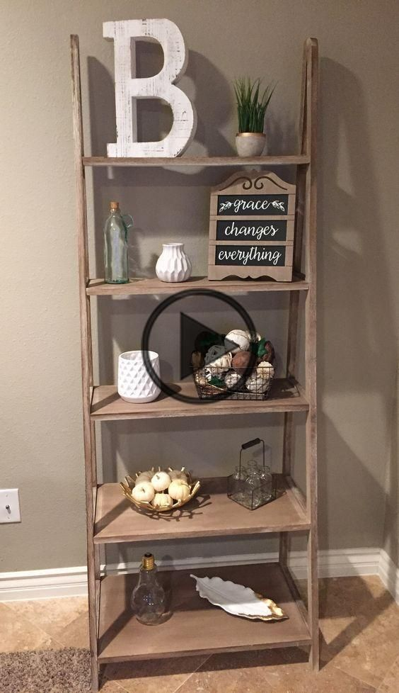 Rustic Farmhouse Living Room Decor Ideas In 2020 Shelf Decor Living Room Living Room Shelves Living Room Storage #rustic #living #room #shelf