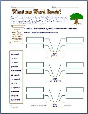 Printables Root Words Worksheets free five worksheets for prefixes suffixes and word roots roots