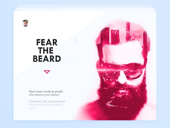 Dribbble - Day 031 - About Card by Paul Flavius Nechita