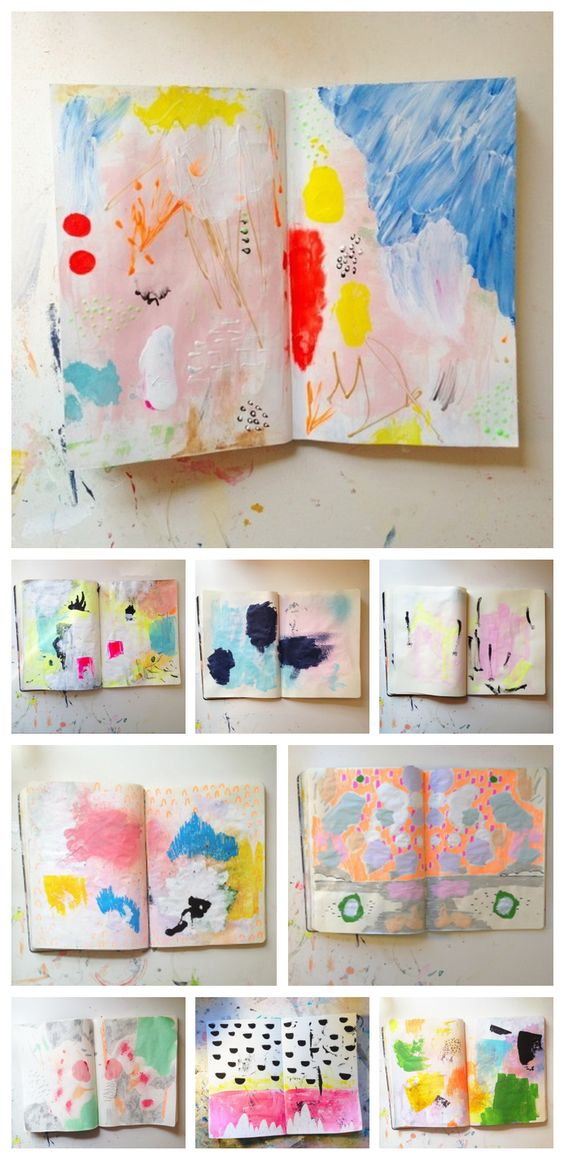 Beautiful abstract sketchbook paintings by Ashley Goldberg: