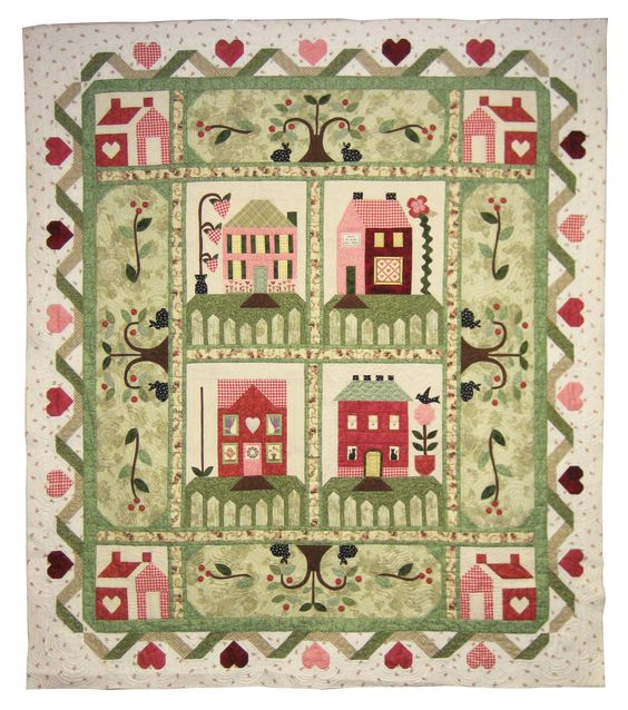 "Heartbeat Quilts | Block of the Month ""Heart and Home"""