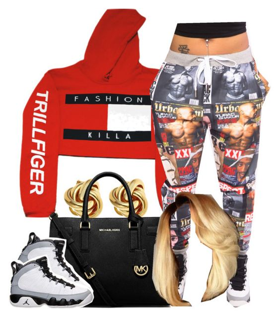 """""""."""" by trillest-princess101 ❤ liked on Polyvore featuring Monday, MICHAEL Michael Kors and Retrò"""