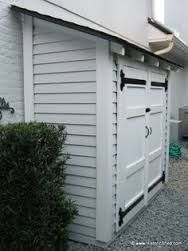 Small narrow tool shed backyard dreamin pinterest for Small narrow shed