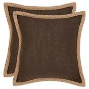 Brown Set Throw Pillow (18