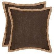 Brown Set Throw Pillow (18