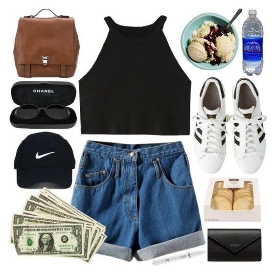 """""""we don't believe what's on tv"""" by forevah-lit ❤ liked on Polyvore featuring Proenza Schouler, Chanel, Nike Golf, NYX and Balenciaga"""