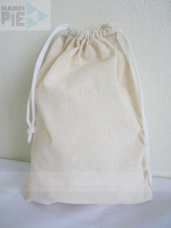 Plain drawstring cotton canvas bag promotion wholesale in Vietnam | Website: www.hanoipie.com | Alibaba: http://vn1014973851.trustpass.alibaba.com/ | Email: info@hanoipie.com | New #CottonBag in #Vietnam from #Hanoipie Co. Ltd.
