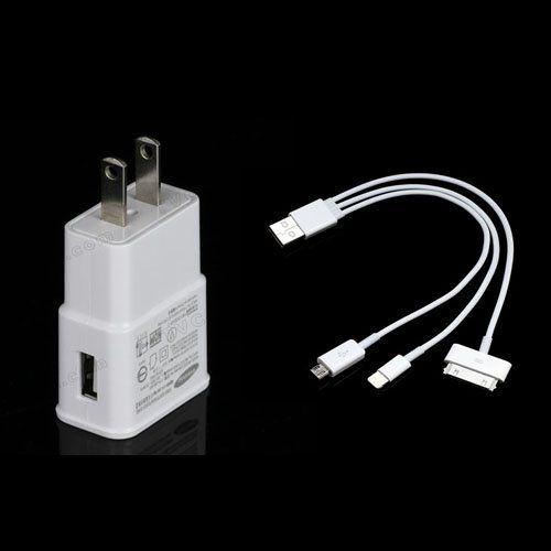Cargador de Pared Enchufe y Cable 3 en 1 (Lightning, 30 pines, Micro USB) modelo 33054 - Carga cualquiermóvil mientras vas en el coche y no te preocupes de quedarte sin batería.  Con el Cable de Datos 3 en 1podrás cargar el casi el 99 % de los dispositivos móviles, compatible con todos los productos Apple (iPhone, iPad, iPod) y los productos Samsung, Sony, HTC, LG etc. Cable ... - http://www.vamav.es/producto/cargador-de-pared-y-cable-3-en-1-lightning-30-pines-m