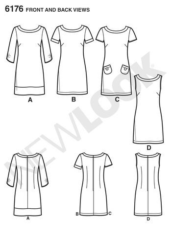Misses' Dress with Sleeve Variations: