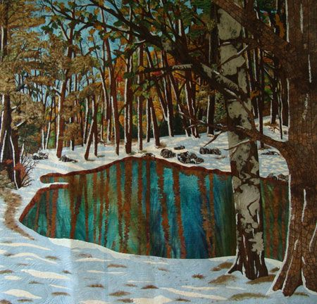 Early Snow by Nancy Sterett Martinquiltpatches.com