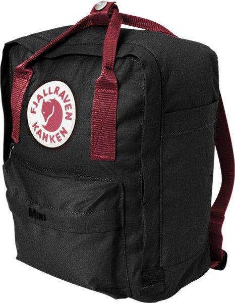 fjallraven kanken black ox red