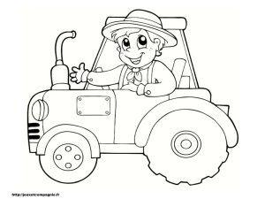 Coloriage tracteur brico garderie pinterest - Tracteur tom coloriage ...