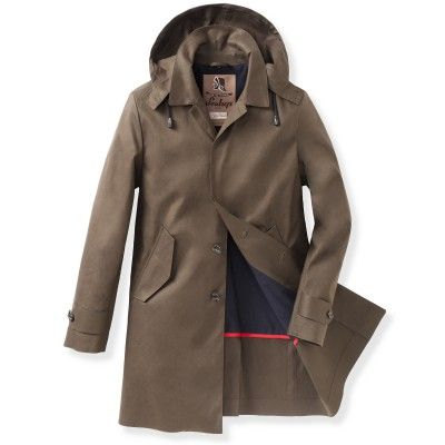 Hooded Mac - Raincoat for men #sealupcollection. Shop it!