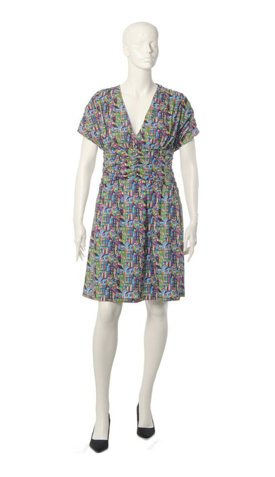 Plus size dress made with funny fabrics
