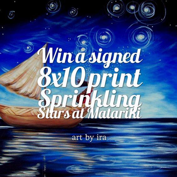Enter to win: Signed 8x10 Matariki Print | http://www.dango.co.nz/pinterestRedirect.php?u=XPk47ZbF4136