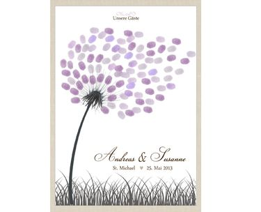 Wedding Tree-Pusteblume (PDF, Leinwand)