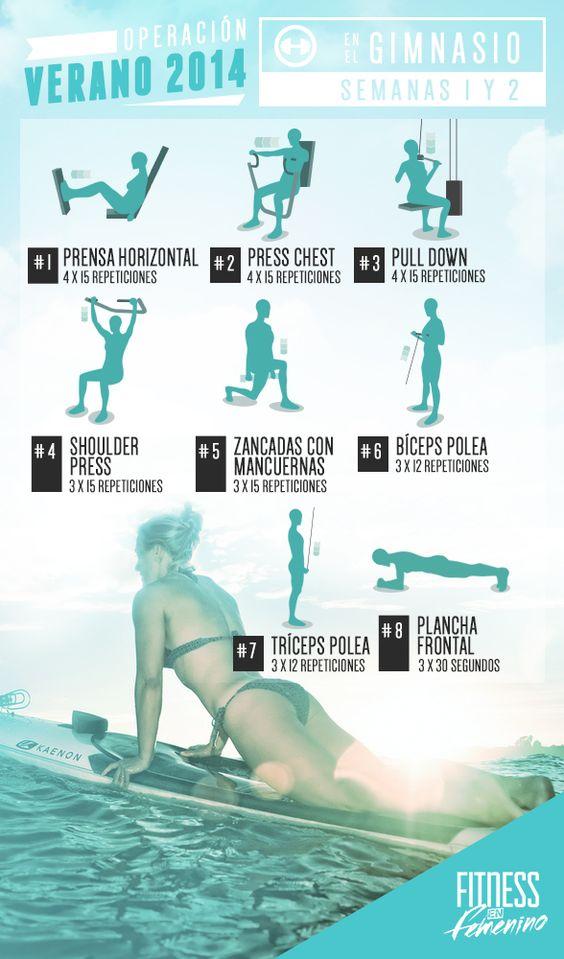 Ejercicios para entrenamiento para principiantes en el for Entrenamiento gimnasio