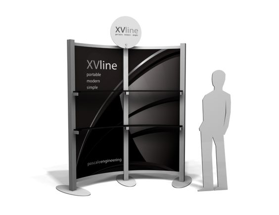 TRADE SHOW DISPLAY FEATURE- SHELVING UNIT FROM THE EX LINE- See more at cmdisplays.com