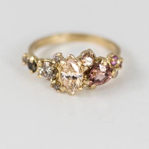 New Champagne diamond ring   Melanie Casey