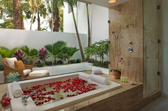 Tropical Full Bathroom - Come find more on Zillow Digs!