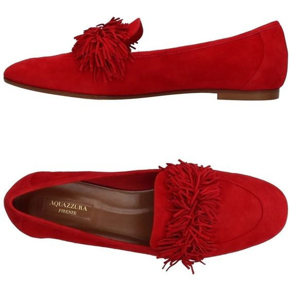 Aquazzura Loafer (7,975 MXN) ❤ liked on Polyvore featuring shoes, loafers, red, flat loafers, round toe flat shoes, loafer shoes, red leather shoes and red loafers