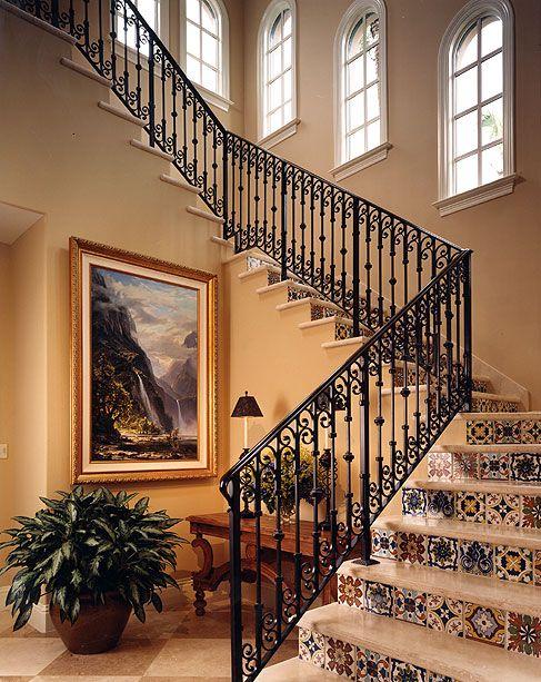 صور درابزين درج للفلل والدوبليكس بأحدث الاشكال ميكساتك Brick Patios Stairs Parts Of Stairs