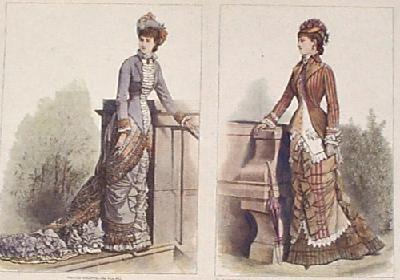 """Extraído de la revista """"Harper's Bazar"""".1874"""