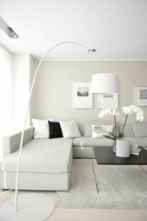 bodenlampe moderne wohnzimmergestaltung stylisch tipps | neue ... - Moderne Wohnzimmergestaltung