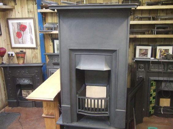 Antique Edwardian Bedroom Fireplace - Like, as understated and nice colour / different.