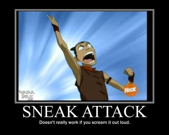 Sneak Attack!!!! #Avatar xD oh how I love tis show