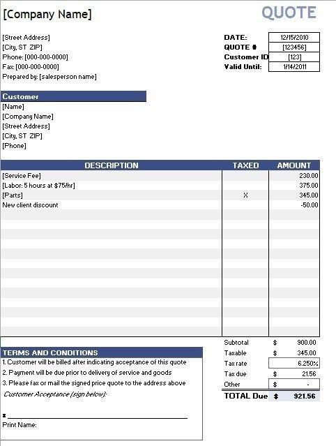 Computer Purchase Quotation Templates Computer Purchase