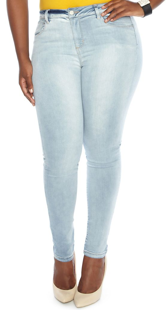 Plus Size Light Wash Jeans - Xtellar Jeans