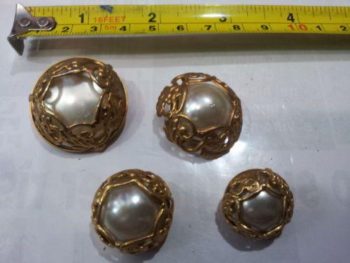 lotto-bottoni-gioiello-strass-pietre-etc-sc4-barocco-vintage-buttons-boutons