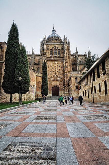 Catedral de Salamanca. Conocida como la catedral nueva por los salmantinos para diferenciarla de la catedral románica situada en la parte posterior de ésta.