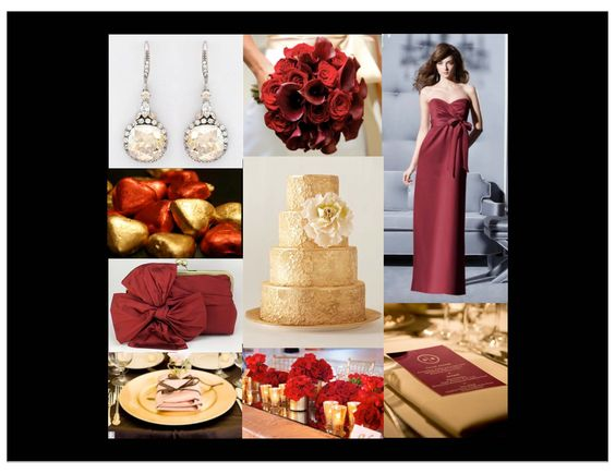 Gold Burgundy Red Champagne Formal Wedding Black Tie For Photo Credits Visit Our Crimson