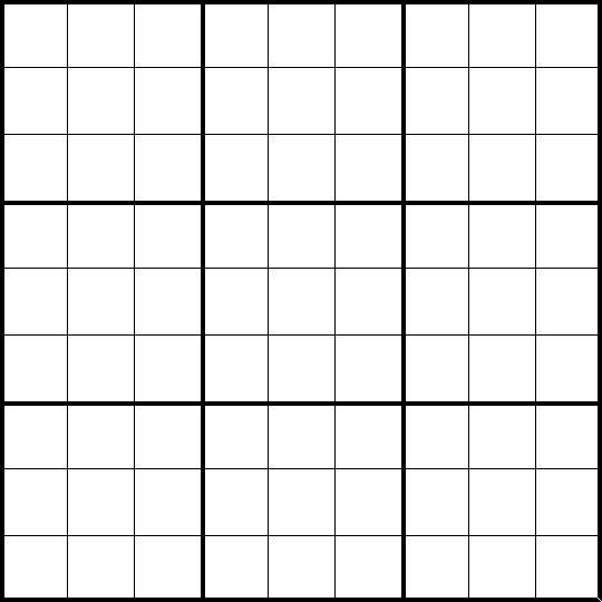 Free Sudoku Blank Forms : Sudoku printable grids - Toronto: Art ...
